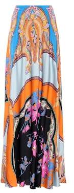 Etro Floral-printed maxi skirt