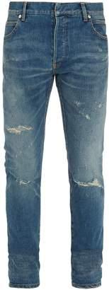 Balmain Distressed slim-leg jeans