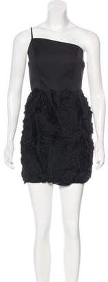 Robert Rodriguez One-Shoulder Ruffled Dress