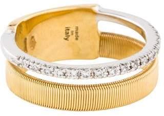Marco Bicego 18K Two Row Pavé Diamond Ring