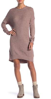 DREAMERS BY DEBUT Knit Crew Neck Sweater Dress