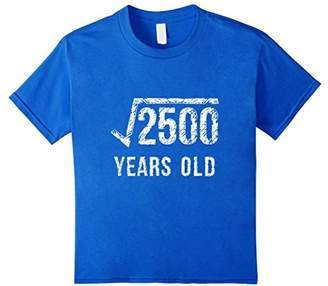 50th Birthday T Shirt Square Root Of 2500