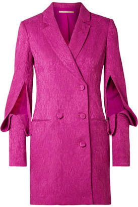 Hellessy Thatcher Double-breasted Cloqué Dress - Fuchsia