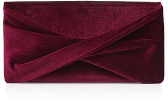 REISS Beau Velvet Knot Evening Clutch $245 thestylecure.com
