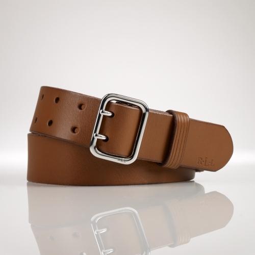 Ralph Lauren Double-Prong Vachetta Belt