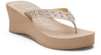Candies Candie's Women's Cut-Out Bling Wedge Sandals