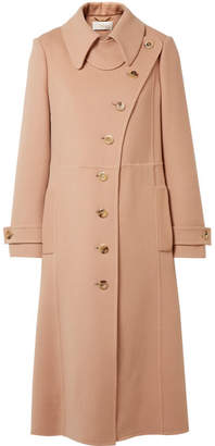 Chloé Wool And Cashmere-blend Trench Coat - Antique rose