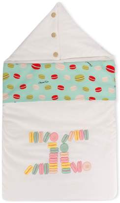 Elisabetta Franchi La Mia Bambina macaron print sleeping bag