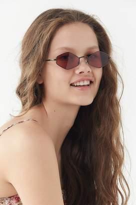 Urban Outfitters Lexi Slim Metal Diamond Sunglasses