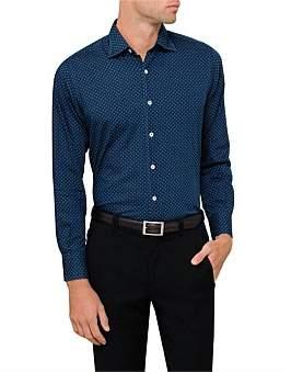 Canali L/S Cotton Chamb Sm Flower Print Shirt