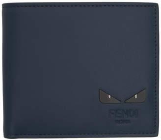 Fendi Blue I See You Bifold Wallet