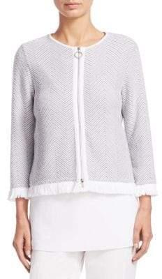 Fabiana Filippi Giacca Corta Herringbone Knit Jacket