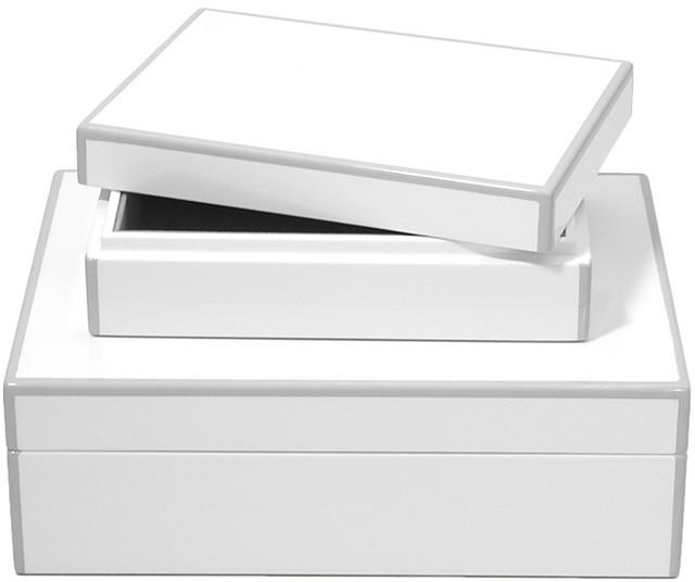 Swing Design Elle Lacquer Storage Box, Set of 2