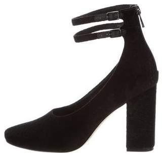 Sigerson Morrison Velvet Ankle-Strap Pumps