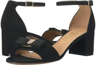 Salvatore Ferragamo Suede Block Sandal High Heels