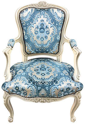 One Kings Lane Vintage French Chair with Velvet Seat - Chez Marie Antiques