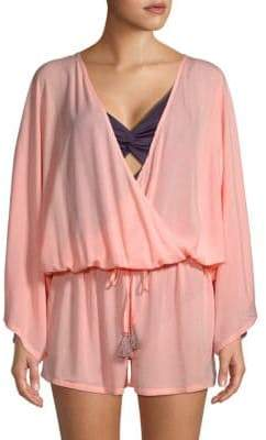 Vince Camuto Drawstring Coverup Romper