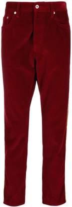 Just Cavalli corduroy side stripe trousers