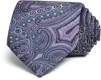 Bloomingdale's The Men's Store at Monochrome Paisley Wide Tie - 100% Exclusive