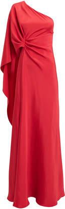 Alberta Ferretti One Shoulder Red Gown