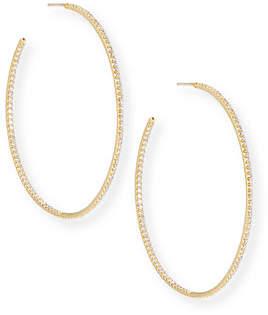 Roberto Coin 55mm Micro Diamond Hoop Earrings, 2ct