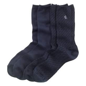 Lauren Ralph Lauren Ralph Lauren Cable-Knit Trouser Sock 2-Pack