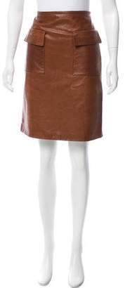 3.1 Phillip Lim A-Line Leather Skirt