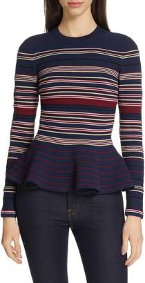 Ted Baker Leytina Stripe Peplum Sweater