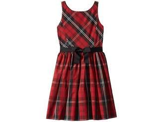 Polo Ralph Lauren Belted Pleated Georgette Dress (Big Kids)