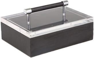 Sagebrook Home Black Acrylic Top Jewelry Box