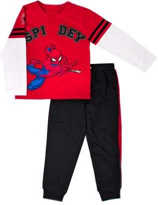 """Toddler Boy Marvel Spider-Man """"Spidey"""" Henley Top & Jogger Pants Set"""