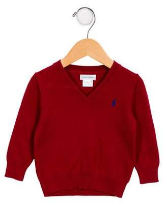 Ralph Lauren Boys' Embroidered V-Neck Sweater