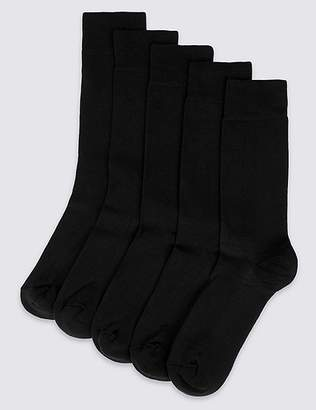 Marks and Spencer 5 Pack Cool & FreshfeetTM Cushioned Sole Socks