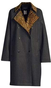 Lafayette 148 New York Laurita Leopard Print Collar Coat