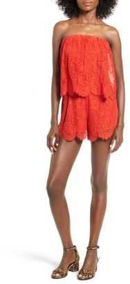 Women's Lovers + Friends Kristine Lace Romper $188 thestylecure.com
