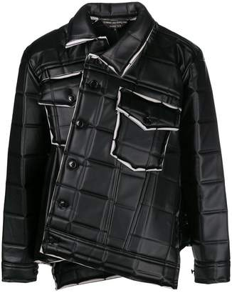 Comme des Garcons asymmetrical square-embossed jacket