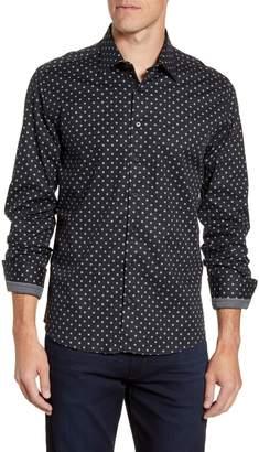 Stone Rose Regular Fit Polka Dot Button-Up Sport Shirt