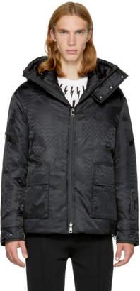 Neil Barrett Black Camo Kefiah Ski Jacket