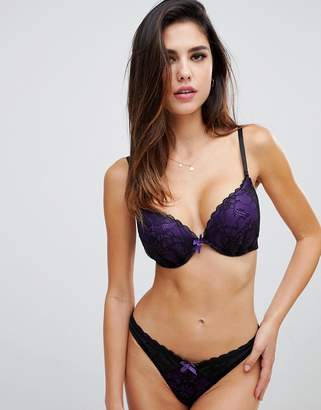91692c6cb0 Ann Summers Darcy double boost padded plunge bra in purple