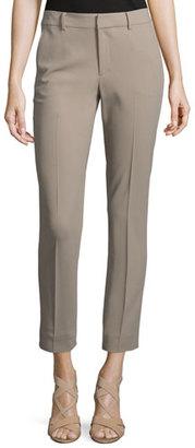 Ralph Lauren Collection Heidi Slim-Leg Cropped Pants, Taupe $750 thestylecure.com