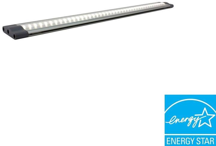 macLEDS SNAP 3-Watt 12 in. LED Grey Under Cabinet Linkable Light with 6-Watt Plug-in Power Supply