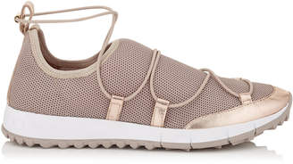 Jimmy Choo ANDREA Tea Rose Fabric Mesh Trainers