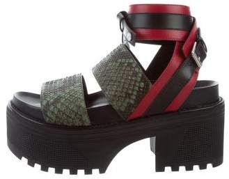 Louis Vuitton Embossed Flatform Sandals