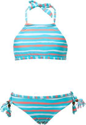 Snapper Rock Stripe Two-Piece Halter Swimsuit