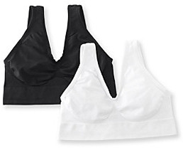 Barely There Barelythere® White/Black Custom Flex Fit Get Cozy 2 Pack Bras
