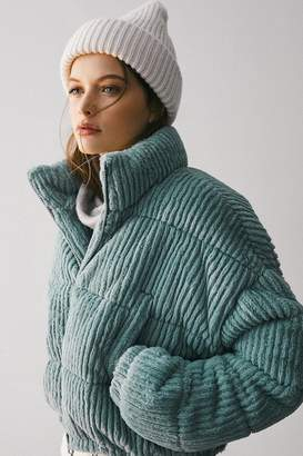 Urban Outfitters Fluffy Corduroy Puffer Coat