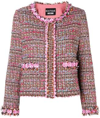 Moschino flower tweed jacket