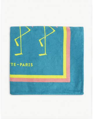 LA SERVIETTE PARIS Flamingo combed cotton towel