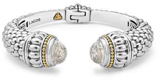 Lagos Caviar Gemstone Hinge Cuff Bracelet