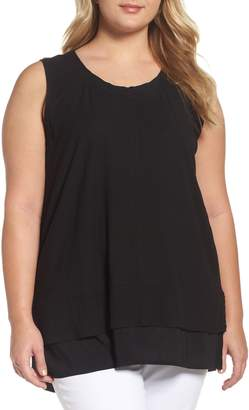 Vince Camuto Two by  Mixed Media Sleeveless Top